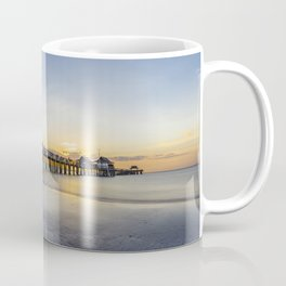 Sunset over Naples Pier in Florida from the beach Coffee Mug