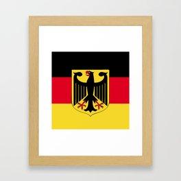 Germany flag emblem Framed Art Print