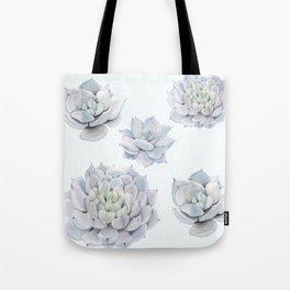 Blue Succulents Tote Bag