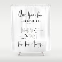 once upon a  time Shower Curtains featuring Once Upon a Time... by girlinplaits