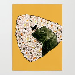 Onigiri Snooze Poster