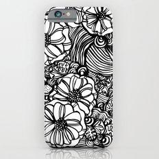 wavy inked floral iPhone 6 Slim Case