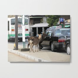 Catching a Cab Metal Print