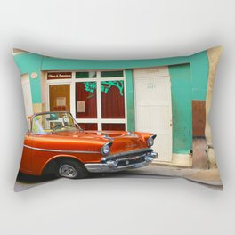 Orange Car in Havana Rectangular Pillow