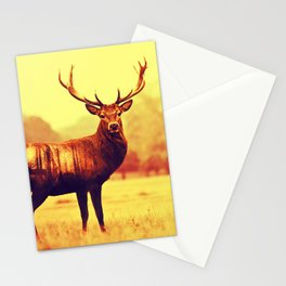 Deer double-exposure Stationery Cards