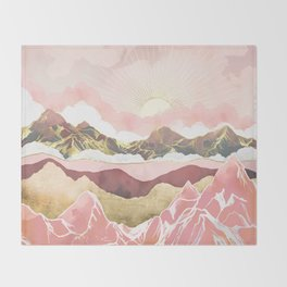 Summer Sunrise Throw Blanket