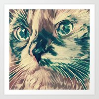 Kitty Face Art Print