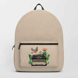 The bird and the typewriter Backpack
