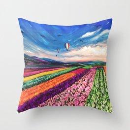 Carlsbad Flower Fields Throw Pillow