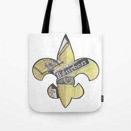 Fleur De Lis Bourbon Street Tote Bag