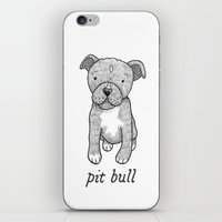 pit bull iPhone & iPod Skins featuring Dog Breeds: Pit Bull by Christine Fleming