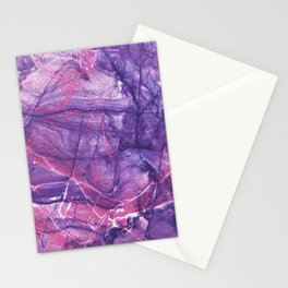 Smokey Ultra Violet and Pink Marble Stationery Cards