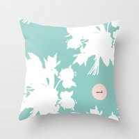 word Throw Pillows featuring Word. by Miss Modern Shop