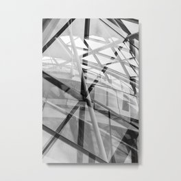 Black and White Modern Architectural Photograph Metal Print