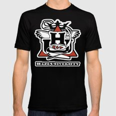 HAZE UNIVERSITY Black MEDIUM Mens Fitted Tee