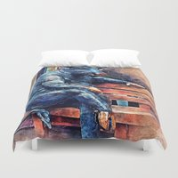 taurus Duvet Covers featuring Taurus by jbjart