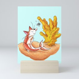 Coral Cat Tree Mini Art Print