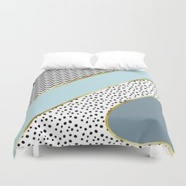 Happy Abstract | blue Duvet Cover