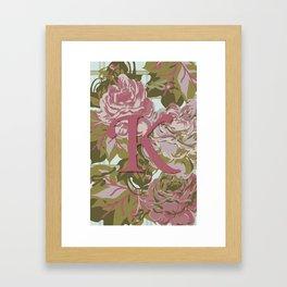 K is for Kimberly, Karen, Kaitlin, Karla, Kandace, Karinya, Kassandra, Kamilla Framed Art Print