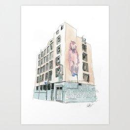 125 Manners Street Art Print