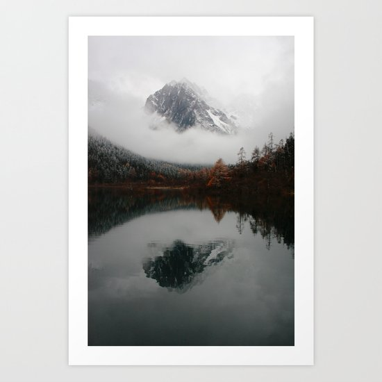 Beautiful Mountain # reflection Art Print