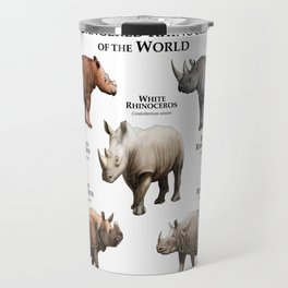 Endangered Rhinoceros of the World Travel Mug