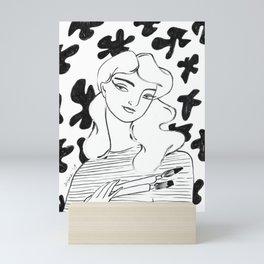 """The Painter"" drawing by Amanda Laurel Atkins Mini Art Print"