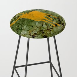 Deer on Green Camo Bar Stool