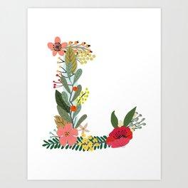 Monogram Letter L Art Print