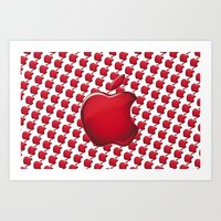 apple Art Prints featuring Apple by JT Digital Art