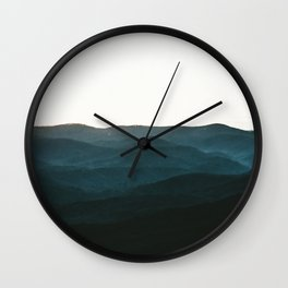 North Georgia Mountains 3 Wall Clock