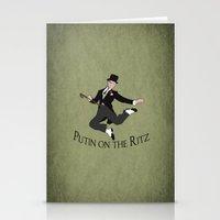 putin Stationery Cards featuring Putin on the Ritz by Ellie Bockert Augsburger