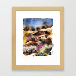 Abstract Tuscan Landscape Framed Art Print