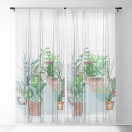 Plants 2 Sheer Curtain