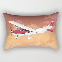 Cessna Flying Through Clouds Rectangular Pillow