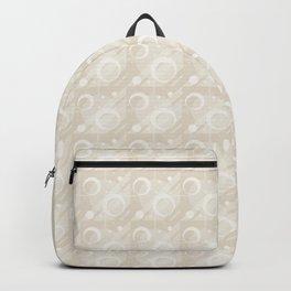Modern Geometric Pattern 6 in Ivory Backpack