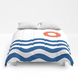 Nautical 02 Seascape Comforters
