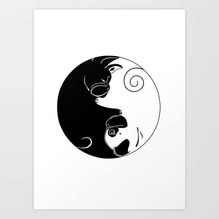 Yin and Yang Kunstdrucke
