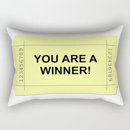 Ticket Yellow Rectangular Pillow