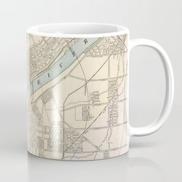 Vintage Map of Toledo Ohio (1901) Coffee Mug