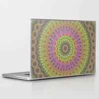 mandala Laptop & iPad Skins featuring Floral ornament mandala  by David Zydd