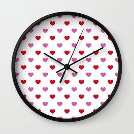 wild_at_heart Pink Wall Clock