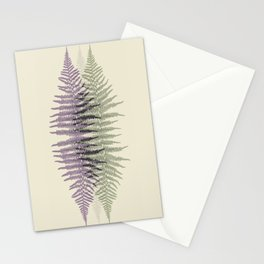 Lavender and Sage Fern Stationery Cards