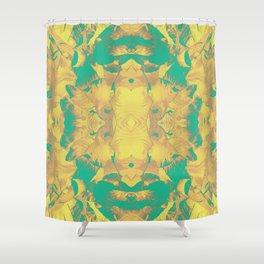 golden mandala Shower Curtain