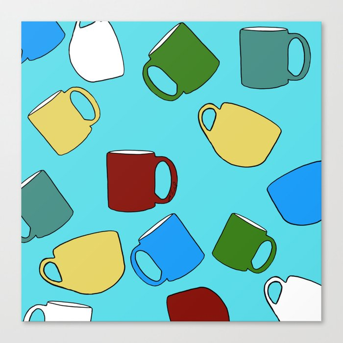 Coffee Mugs! Canvas Print