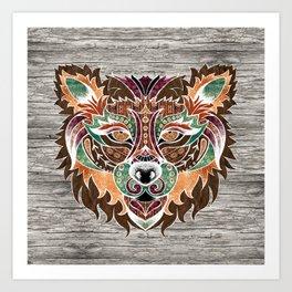 Grr! (Bohemian Bear) Art Print