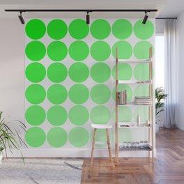 Green Circle Color Chart Wall Mural