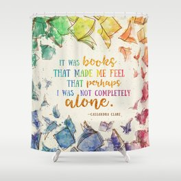 It was books Shower Curtain