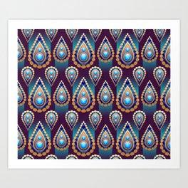 Turkish Blue Art Print