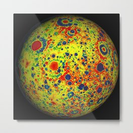The Moon's Gravity Metal Print